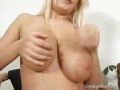 big tits, blonde, busty, solo, posing, big boobs, huge tits, teasing, striptease