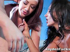 Jayden james and her girlfriend get fucked hard