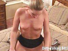 Amateur blonde in stocking pov blowjob and handjob