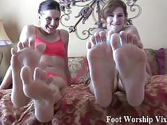 Rub your cock all over their soft feet
