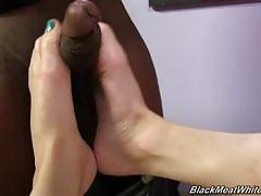 Lily labeau interracial footjob