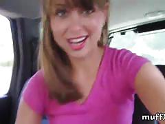 Beautiful teen riley reid masturbates in the car