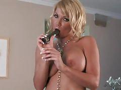 angie savage, big tits, blonde, masturbation, toys, solo, vibrator, big boobs, fake tits, teasing, striptease