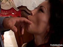 Asian with exotic beauty spend all night sucking