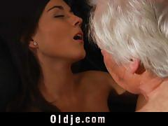 Lucky old man fucked by the gorgeous eva strauss