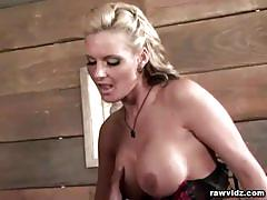 Sexy blonde phonenix marie gets a cock in her ass.
