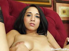 Wild brunette mia hurley plays with her pussy