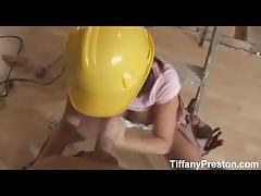 Hottie reno as a construction worker pov blowjob