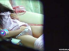 Asian teen voyeur masturbation