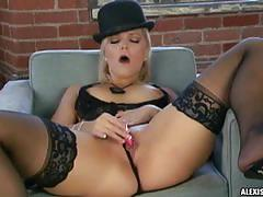 Alexis texas toys her pussy