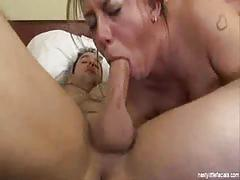 Busty milf allie foster enjoying fucking two cocks