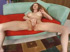 Redheaded milf with huge tits get a black cock
