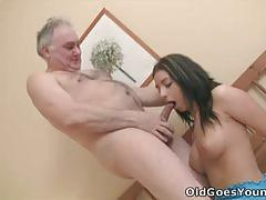 He lets an old man fuck his girlfriend