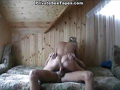 Dude fucks his cute blonde girlfriend