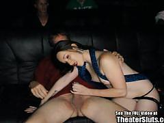Amateur gangbang with slutty deanna at the theatre