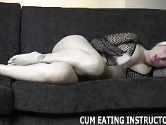 Wild dommes make you eat your own cum