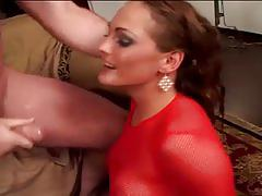 Giant boner drilling busty brunette raw butt hole