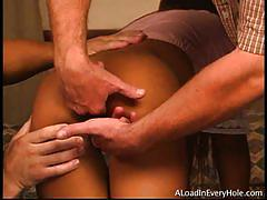 Lyla lei gets gangbanged by 3 horny dudes