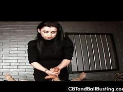 Mistress kiki tortures a guy's balls