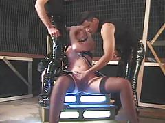 hardcore, double penetration, doggy style, gorgeous, beauty, black hair, latex, mmf, big cock, glamour, missionary