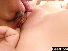 Sensual brunette gets drilled deep and hard