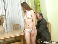 Lovely coed naomi craving for some dirty old meat