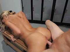 Hot blonde nicole aniston gets banged very hard
