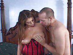 Giant boner made for massive tits brunette slut