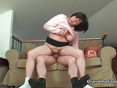 Busty granny truly appreciates cock