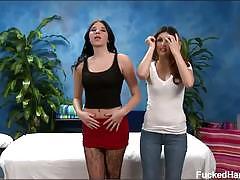 Natasha and nadia massaged naked