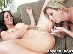 Jayden james and her blonde gf go fully lesbo