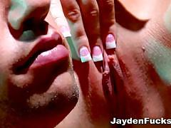 jayden james, brunette, big dick, blowjob, hardcore, big tits, busty, babe, pussy, reverse cowgirl, doggy style, tight pussy, shaved pussy, big boobs, huge tits, beauty, black hair, big cock