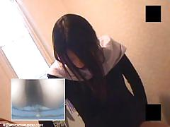 Japanese masturbates on the toilet