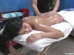 Teen kimberly gates sucks her masseur's cock