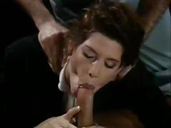 Vintage babe gets double penetrated