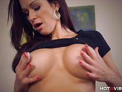 Super hot milf stacy silver gets off with hotgvibe