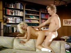 Vintage blonde riding big schlong