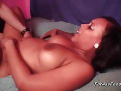 Bitchy milf likes ramming her black pussy