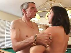Tattooed guy loves cock plugging in young pussy