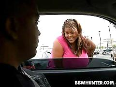 Sassy black bbw minxxx picked up from parking lot