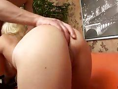 Hot blonde belle rides a hard rod of meat