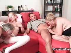 blowjob, big tits, blonde, milf, busty, groupsex, mom, european, foursome, big boobs, mature, huge tits, granny, stepmom
