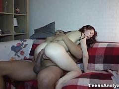 Redhead emmy first interracial anal