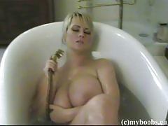 Bea flora washes her mega boobies