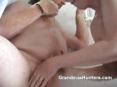 Brunette mature gives her man some great head