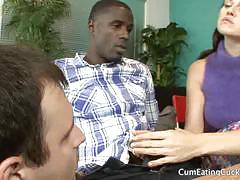Josi valentine and her man share a big black cock
