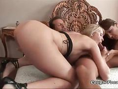 brunette, hardcore, blonde, milf, babe, lesbian, reverse cowgirl, doggy style, threesome, ffm, cowgirl, beauty, black hair, eating pussy, licking pussy, glamour, missionary