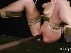 Elise graves' pussy gets tortured