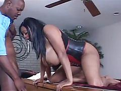 Lucky dude fucks 3 horny ebony sluts
