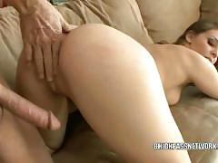 Gracie glam takes an old dude's cock in her twat